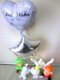 結婚祝「送料無料・谷の妖精たち 結婚お祝バルーン&バルーンアート」バルーン電報になります。