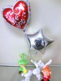 お誕生日祝「送料無料・谷の妖精たちが愛を伝えるバルーン&バルーンアート」バルーン電報になります。