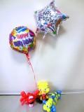 誕生日祝・バルーンギフト・スポンジボブ・リトルマーメイド「送料無料 誕生日祝マーメイド&スポンジ・バルーン&バルーンアート」