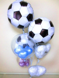 結婚祝・祝電・バルーンギフト「DXサッカーフットサル ブライダル・バルーン」バルーン電報になります。