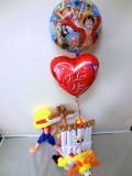 お誕生日祝「ワンピース サニー号&ルフィ・バルーン&バルーンアート」バルーン電報になります。