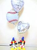 結婚祝/送料無料ベースボール・スワロー ブライダル・バルーン
