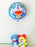 入園祝・卒園祝・入学祝「ドラえもんとドラミちゃん バルーン&バルーンアート」七五三・誕生祝・バルーン電報になります。