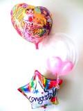 入学祝・入園祝・卒園祝・七五三祝・発表会「送料無料 お祝・魔法使いプリキュア・バルーン」バルーン電報になります。
