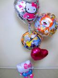 入園祝・入学祝・七五三・入学祝・卒園祝「送料無料 キティちゃんと妖怪ウオッチ&ポケモン ハートバルーン」バルーン電報になります。
