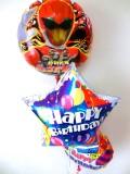 誕生日祝・バルーンギフト「送料無料 動物戦隊ジュウオウジャー バースデーバルーン」バルーン電報になります。