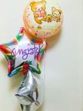 入学祝リラックマ 入園祝リラックマ 卒業祝リラックマ リラックマバルーンギフト「リラックマお祝バルーン」バルーン電報になります。