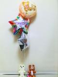 入学祝リラックマ 卒業祝リラックマ 結婚祝リラックマ「送料無料 リラッククマお祝バルーン&バルーンアート」