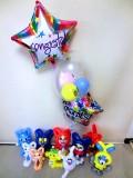 誕生日祝・入学祝・入園祝・卒園祝・七五三祝・発表会「送料無料 DX妖怪お祝バルーン&バルーンアート」バルーン電報になります。