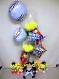 プロ野球・阪神タイガース・金本監督「アニキ&ベースボールタイガー 誕生日祝バルーン&バルーンアート」バルーン電報になります。