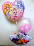お誕生日祝「送料無料プリンセス・プキュア・バルーン・バースデー」バルーン電報になります。