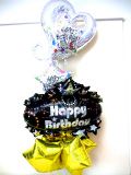 ラウンジ・バルーンギフト・バースデー「大人のスター&スター 誕生日祝バルーン」バルーン電報になります。