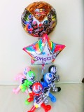 入園・入学・卒園・七五三祝バルーン「騎士竜戦隊リュウソウジャー お祝バルーン&バルーンアート」バルーン電報になります。