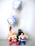 キン肉マン・ウォーズマン・ラーメンマン・力士マン・結婚式・祝電・バルーンギフト「超人のプロレス 結婚祝バルーン」