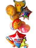 誕生日祝「スペシャル・ポケモン バースデーバルーン」バルーンギフトにメッセージを添えれば素敵なバルーン電報になります。