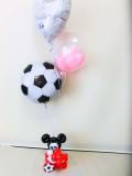 結婚式場・祝電・バルーンギフト「サッカーフットサル結婚祝バルーンアート」バルーン電報になります。