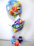サプライズギフト「送料無料 ドキン・コキン・アンパンマン・バイキンマン誕生日祝バルーン&バルーンアート」