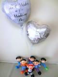 結婚祝・おそ松さん・祝電・式場 「六つ子 ブライダル・バルーン&バルーンアート」バルーン電報になります。