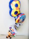 ドラゴンボールバースデーバルーン「数字のバルーン付 ドラゴンボール誕生日祝バルーン&孫悟空バルーンアート」