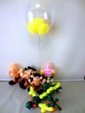 誕生日祝,ドラゴンボール,魔人ブウ,孫悟空,孫悟飯,シェンロン,クリリン,バルーンギフト,バルーンアート