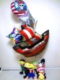 お誕生日祝バルーンギフトのルフィ、サンジ、ゾロ、チョッパーワンピース バルーン&バルーンアート