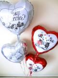 結婚祝・バルーンギフト「送料無料ジャストマリッジ・ミッキー&ミニー ブライダル・バルーン」バルーン電報になります。