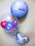結婚祝 式場祝電 バルーンギフト ゴルフ部 ゴルフクラブ 「ゴルフ大好きブライダルバルーン」 バルーン電報になります。