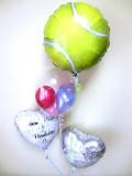 結婚祝 式場祝電 バルーンギフト テニス部 テニスクラブ 「テニス大好きブライダルバルーン」 バルーン電報になります。