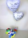 結婚祝バルーン「スヌーピーとウッドストック ブライダル・バルーン&バルーンアート」バルーン電報になります。