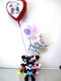 バルーンギフト「送料無料オズワルド&ミッキー&ミニーお誕生日祝 バルーン&バルーンアート」バルーン電報になります。
