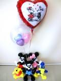 誕生日祝・入学祝「送料無料オズワルド&ミッキー&ミニー&ドナルド&くまのプーさん ディズニーバルーン&バルーンアート」
