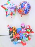 入学祝 入園祝 卒園祝 七五三 誕生祝 結婚祝 「仮面ライダービルドお祝 バルーン&バルーンアート」