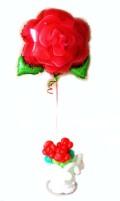 愛の告白、お誕生日、バレンタインデー、ホワイトデーのサプライズプレゼントにいかがですか? バルーンフラワーローズ レッド