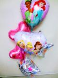 バースデーバルーン 「プリンセス 誕生日お祝ハート・バルーン」 バルーンギフト