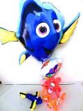 ディズニー・ファインディングニモ「ファインディング・ドリー&ニモ 誕生祝バルーン&バルーンアート」バルーン電報になります。