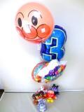 トトロ・ネコバス・バイキンマン誕生日祝「数字付アンパンマン&ネコのバス 誕生祝バルーン&バルーンアート」