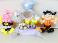 ドラコンボール結婚祝・ドラゴンボール祝電・トラゴンボールバルーンギフト「ドラコンと魔人 結婚お祝リングバルーン」