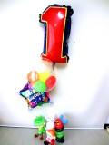 ムーミン・スナフキン・ミー・はらぺこあおむし・誕生祝「数字付あおむし&妖精 誕生祝バルーン&バルーンアート」
