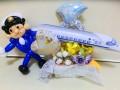 JR職員結婚祝・新幹線結婚祝・鉄道ファン結婚祝「新幹線&鉄道マン 結婚お祝リングバルーン」