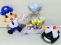 ふっけいくん結婚祝・福岡県警結婚祝・福岡警察祝電・ふっけいくん祝電・福岡警察官結婚祝「福岡ポリス 結婚お祝リングバルーン」