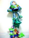 卒業祝/誕生日祝「トイストーリー スターバルーン&バルーンアート」素敵なバルーン電報になります。