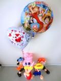 誕生日・結婚祝・入学祝・卒業祝「ワンピース・エース・シャンクス・ルフィバルーン&バルーンアート」