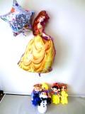 誕生日祝・バルーンギフト「ディズニープリンセス&オラフ バースデーバルーン&バルーンアート」バルーン電報になります。