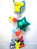 入学祝「ベストウィッシュ・ポケモン  スターバルーン& バルーンアート」素敵なバルーン電報になります。