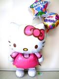 バルーンギフト・バースデー・パーティ「送料無料 大きなキティちゃん 誕生日祝バルーン」バルーン電報になります。