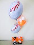 結婚祝バルーン・プロ野球・ジャイアンツ「ベースボール ラビットバルーン&バルーンアート」バルーン電報になります。