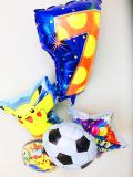 ポケモン誕生祝バルーン「ポケモン数字のバルーン付誕生日&サッカーバルーン」