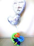 ファインディングニモ・ドリー・祝電・式場・ブライダル「送料無料カクレクマノミ結婚祝バルーン&バルーンアート」