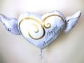 結婚祝/送料無料「ホワイトウイング ブライダル・バルーン」素敵なバルーン電報になります。