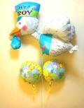 素敵なバルーン電報になります。出産お祝用のバルーンギフト 感動的な出産を素敵に演出します。「ジョイストーク ボーイ」